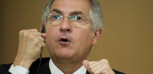 O prefeito de Caracas Antonio Ledezma em imagem de julho de 2009