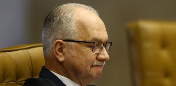 22.mar.2018 - O ministro Edson Fachin durante sessão realizada no plenário do STF - Dida Sampaio/Estadão Conteúdo