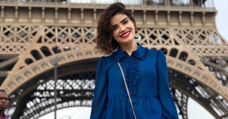Atriz Vanessa Giácomo curte viagem para Paris