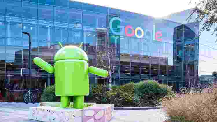 Android na sede do Google - Getty Images - Getty Images