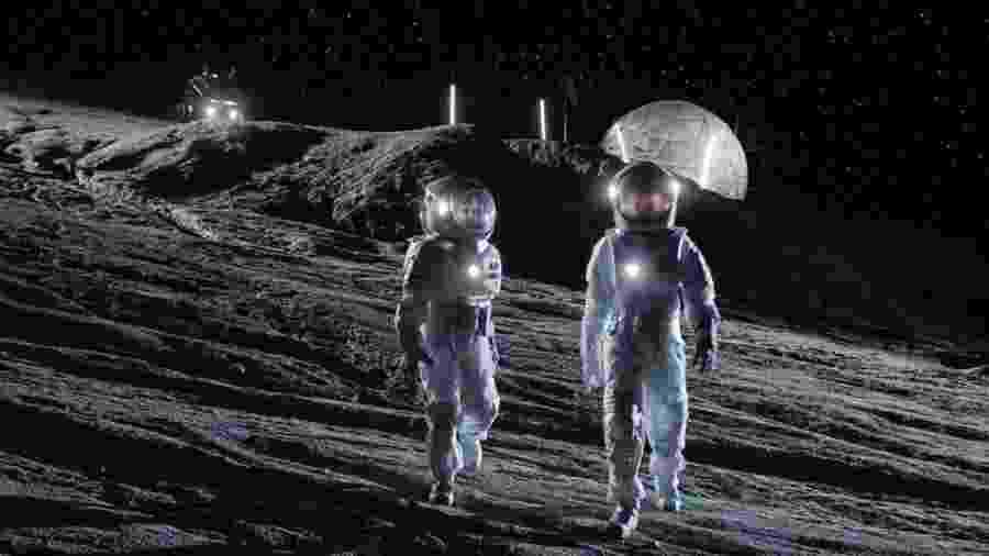A Nasa pretende levar astronautas à superfície lunar até 2030  - Getty Images
