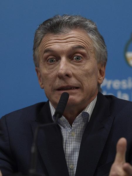 Peso argentino entrou em queda livre após eleições primárias no domingo, quando Alberto Fernández derrotou o presidente Mauricio Macri (foto) - Juan Mabromata/AFP