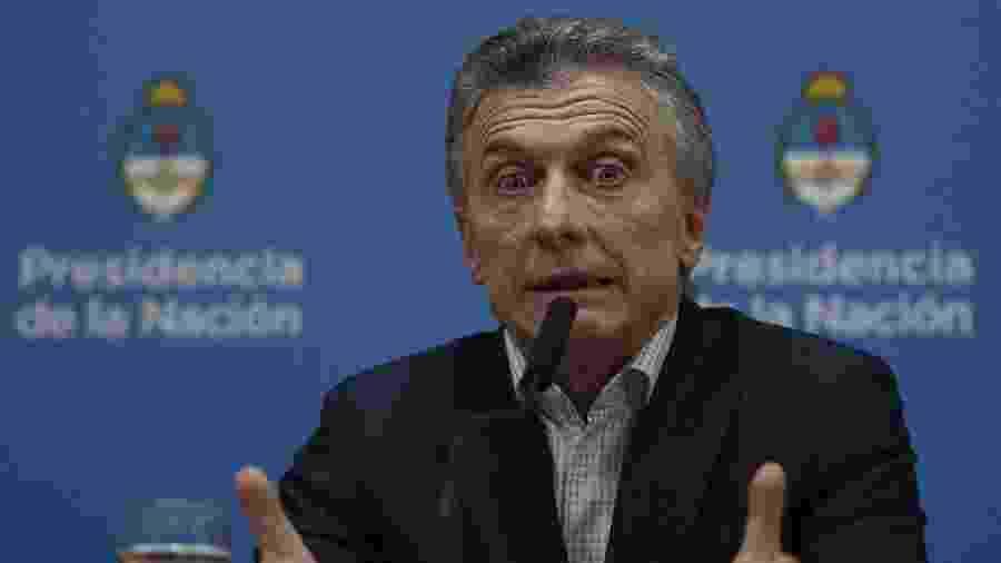 Macri responsabilizou seus adversários kirchneristas pela turbulência no mercado financeiro, após a derrota que sofreu nas urnas - Juan Mabromata/AFP