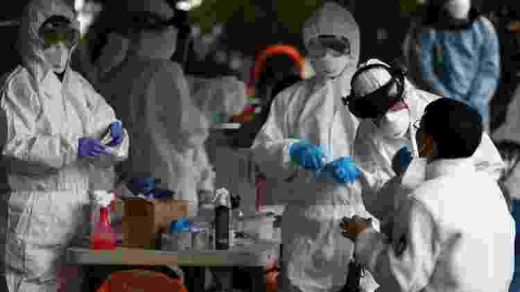 Coréia do Sul e casos de coronavírus - Getty Images - Getty Images
