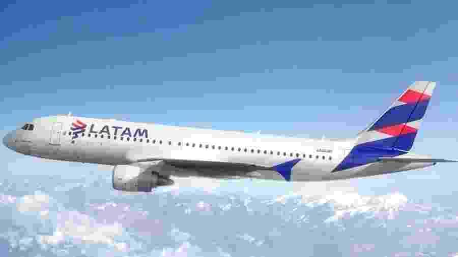 Avião Airbus A320-200 da Latam - Divulgação