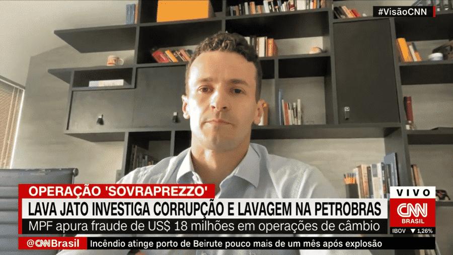 """Pozzobon, procurador da Lava Jato: """"seria impossível encerrar todas as investigações [até janeiro], são mais de 400 em curso"""" - Reprodução/CNN"""