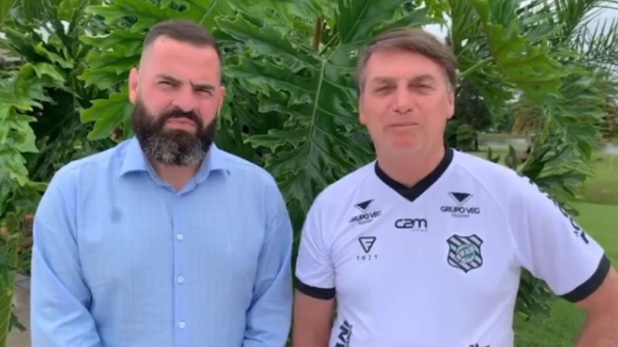 Paulo Chuchu em vídeo de apoio gravado pelo presidente Bolsonaro - Reprodução