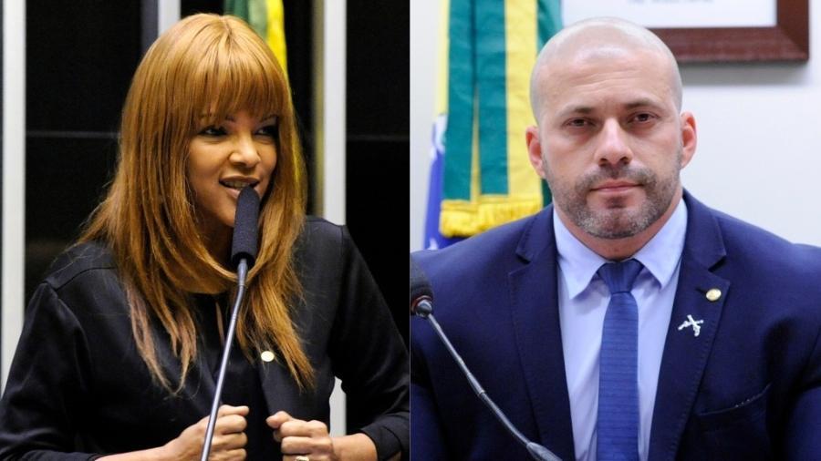Flordelis e Daniel Silveira são alvos de procedimentos disciplinares por quebra de decoro parlamentar - Cleia Viana/Câmara dos Deputados/Arte UOL