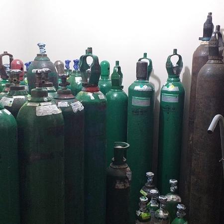 Cilindros foram doados por cervejarias para hospital do PR - Divulgação/SESA-PR