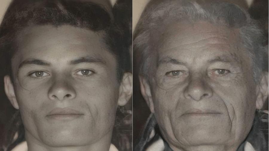 """Everaldo Nascimento procurava o pai há 23 anos e contou com ajuda de aplicativo para envelhecê-lo; """"retrato falado"""" ajudou com paradeiro - Reprodução/Arquivo Pessoal"""