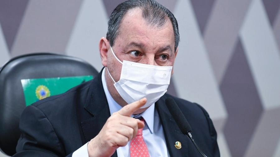 O senador Omar Aziz (PSD-AM), presidente da CPI da Covid - Jefferson Rudy/Agência Senado