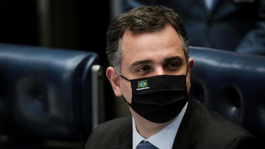 19.ago.2021 - O presidente do Congresso e do Senado, Rodrigo Pacheco (DEM-MG) - Wallace Martins/Futura Press/Estadão Conteúdo