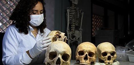 4.nov.2015 - Cemitério encontrado no Recife Antigo pode estar ligado ao período holandês
