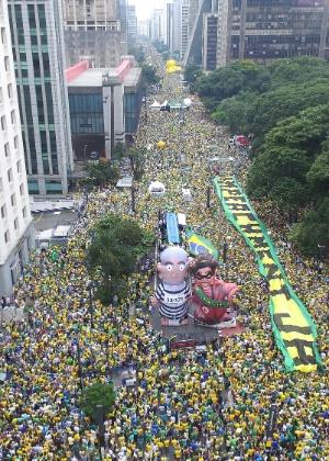 Protesto de domingo pediram o impeachment de Dilma