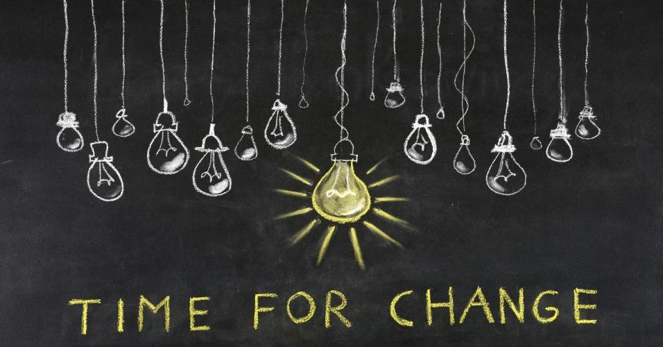 """Ilustração diz que """"é tempo para mudar"""""""