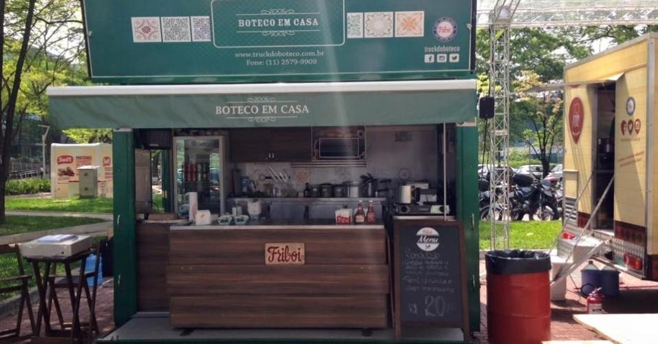 Food truck da franquia Boteco em Casa
