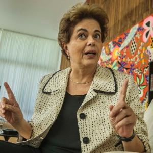 A presidente afastada, Dilma Rousseff, no Palácio da Alvorada