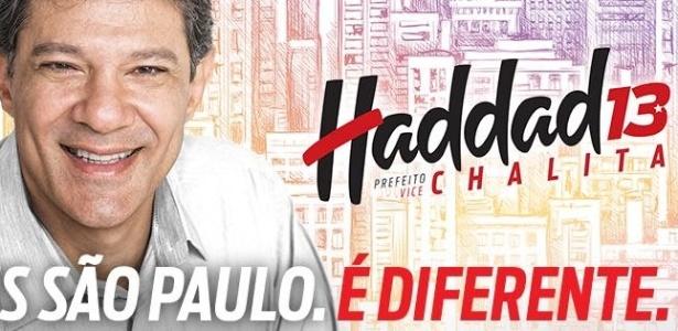 """Parte da campanha avalia que o """"é diferente"""" é uma tentativa de Haddad de se desvincular do PT"""
