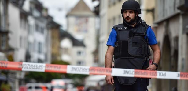 Policial isola local do crime em Schaffhausen, an Suíça