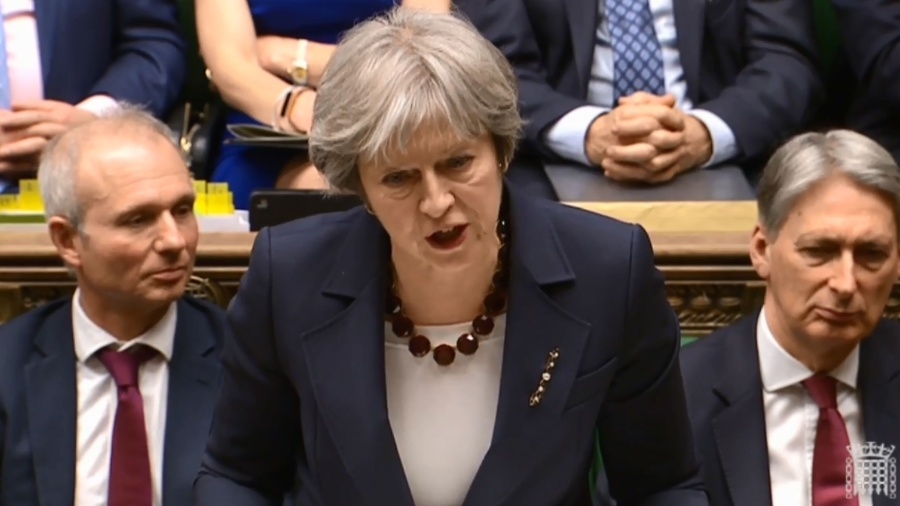 Primeira-ministra britânica Theresa May informou que relações com Rússia foram cortadas - AFP PHOTO / PRU