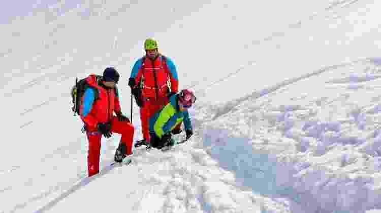 A aventura teve a participação do aventureiro Pedro McCardell e do montanhista italiano Alessio Nardellotto - Divulgação