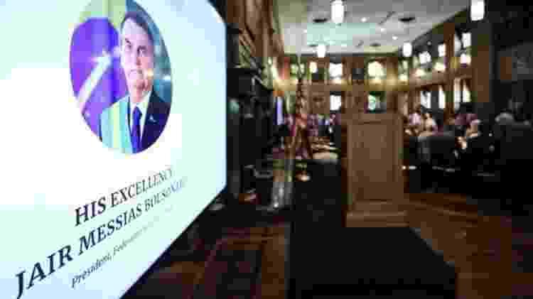 Em Dallas, Bolsonaro recebeu um prêmio da Câmara Brasil-EUA que seria entregue em Nova York - Marcos Corrêa - 16.mai.2019/PR