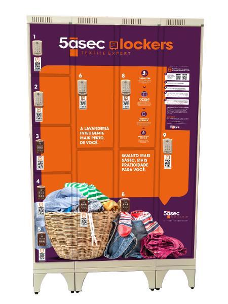 Os lockers, da 5àsec, são armários digitais para serem implantados em condomínios - 5àsec/Divulgação