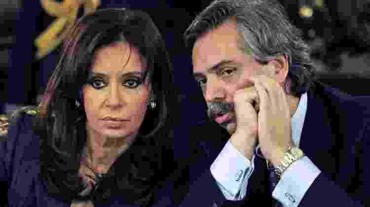 Alberto Fernández chegou a trabalhar na gestão de Cristina, mas renunciou em 2008, pouco mais de um ano depois que ela assumiu - DANIEL GARCIA/AFP/GETTY