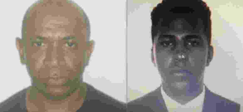 Valdir Bispo dos Santos e David de Oliveira Fernandes, seguranças presos sob suspeita de tortura a jovem em mercado de SP - Reprodução/Polícia Civil
