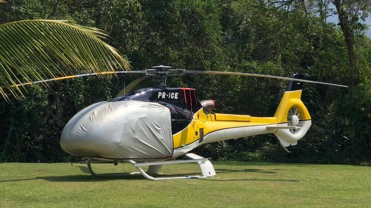 Helicóptero que seria utilizado por André do Rap - Arquivo pessoal