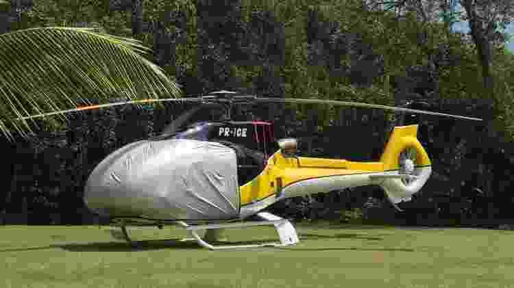 Helicóptero que seria utilizado por André do Rap - Arquivo pessoal - Arquivo pessoal