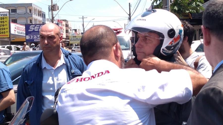 Bolsonaro também não deixou claro em qual data pegou as gravações do condomínio - Guilherme Mazieiro/UOL