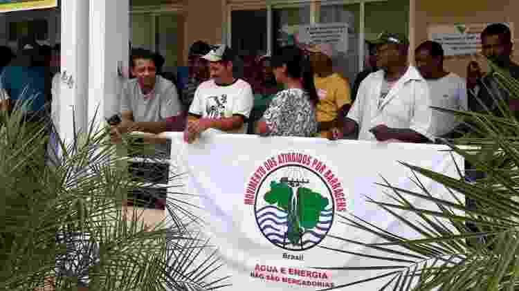 Protesto de moradores de Barra Longa em 2018: relação com a Renova é descrita por atingidos como 'conturbada' - Arquivo pessoal/Simone Silva