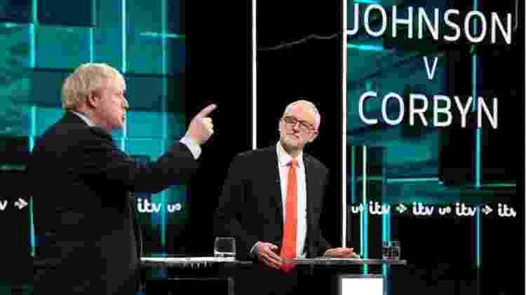 Brexit e NHS têm dominado os debates entre os líderes dos dois principais partidos, o conservador Boris Johnson (à esquerda da foto) e o trabalhista Jeremy Corbyn (à direita) - Getty Images