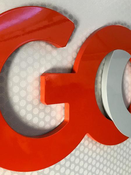 Logo da Gol no aeroporto de Natal, no Rio Grande do Norte -