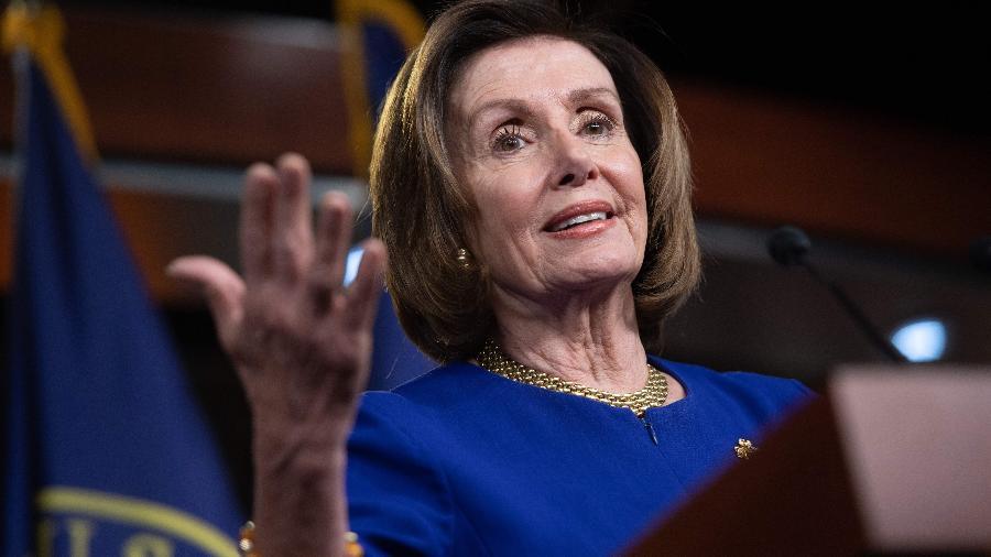 A presidente da Câmara dos Representantes dos Estados Unidos, Nancy Pelosi - Saul Loeb/AFP