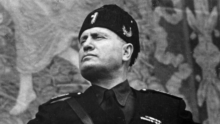 O ditador fascista Benito Mussolini, que governou a Itália entre 1922 e 1943 - Getty Images