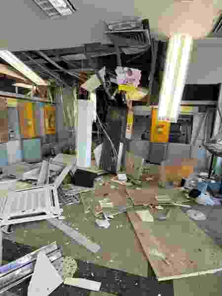 2.dez.2020 - Agência do Banco do Brasil em Cametá que ficou destruída após assalto - Divulgação/Governo do Pará