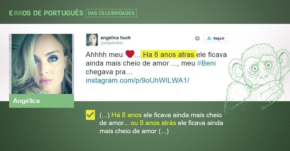 erros de português de celebridades - Angélica