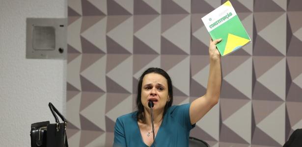 A advogada Janaína Paschoal, uma das autoras do pedido de impeachment