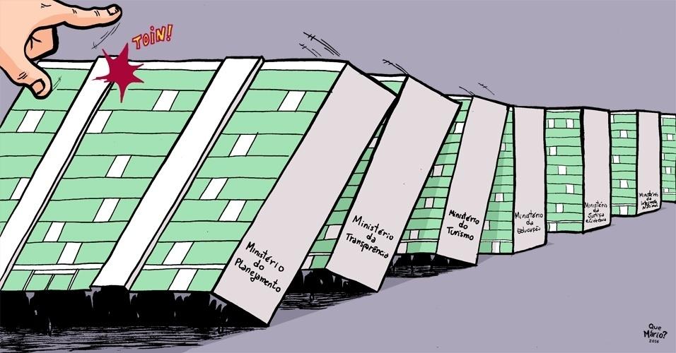 22.jun.2016 - Com queda de ministros envolvidos em investigações, Brasília corre o risco de efeito dominó