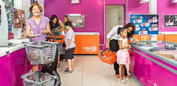Supermercado de sorvetes da franquia Oggi tem 120 sabores - Divulgação