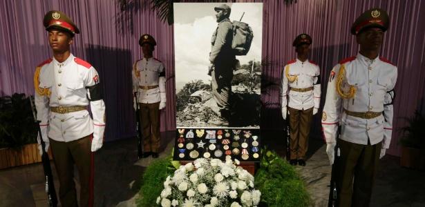 Fotografia de Fidel Castro é exibida no Memorial José Martí, em Havana, Cuba