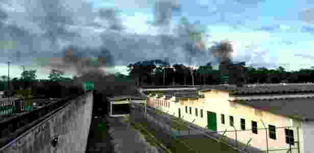 O Compaj (Complexo Penitenciário Anísio Jobim) durante a rebelião de segunda - Xinhua - 2.jan.2017/A Crítica