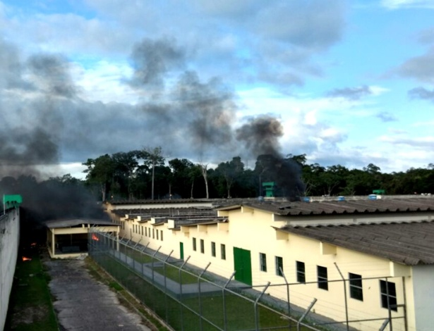 Compaj ficou sob fumaça durante rebelião ocorrida no segundo dia do ano