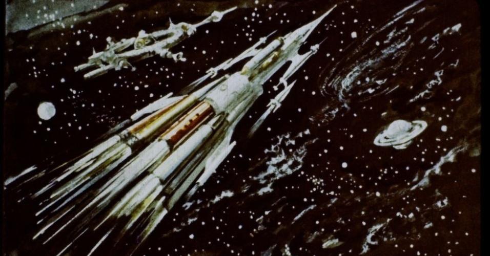 16.jan.2017 - Os jovens também conhecem avanços tecnológicos como os foguetes de propulsão fotônica, que viajam na velocidade da luz para o sistema planetário mais próximo, Alfa-Centauri.
