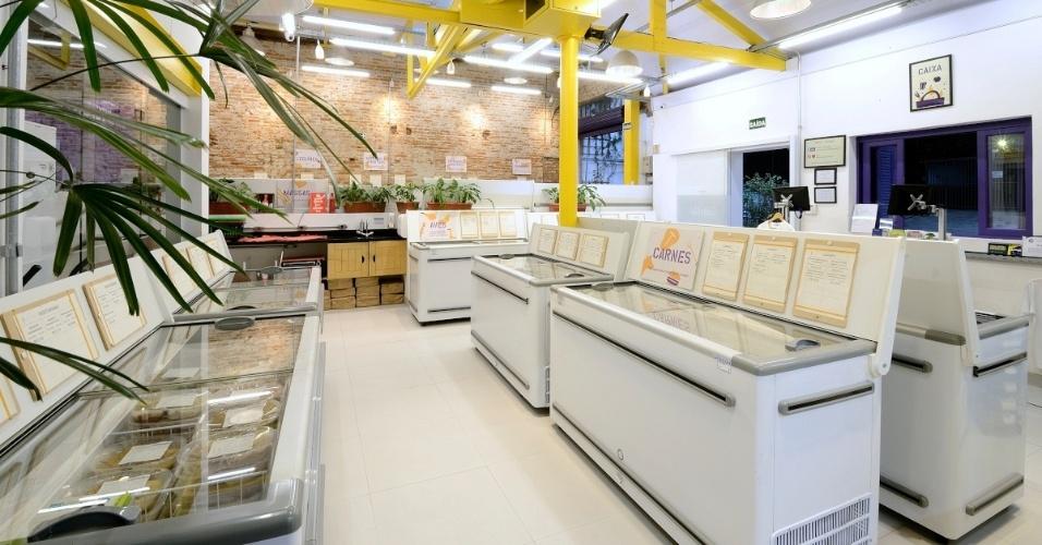 O mercado Bendito Frio é especializado na venda comida ultracongelada