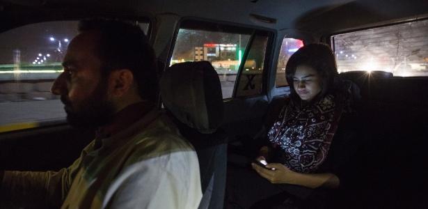 Huda Baig utiliza o Careem para ir à ginastica em Karachi, no Paquistão