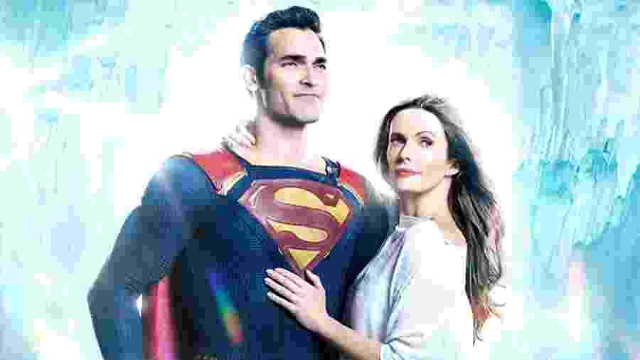 Tyler Hoechlin e Elizabeth Tulloch como Superman e Lois Lane - Reprodução/Instagram