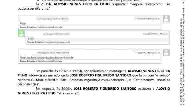 Conversa entre os ex-ministros do governo de Michel Temer, Raul Jungmann (PPS) e Aloysio Nunes (PSDB) - Reprodução - Reprodução